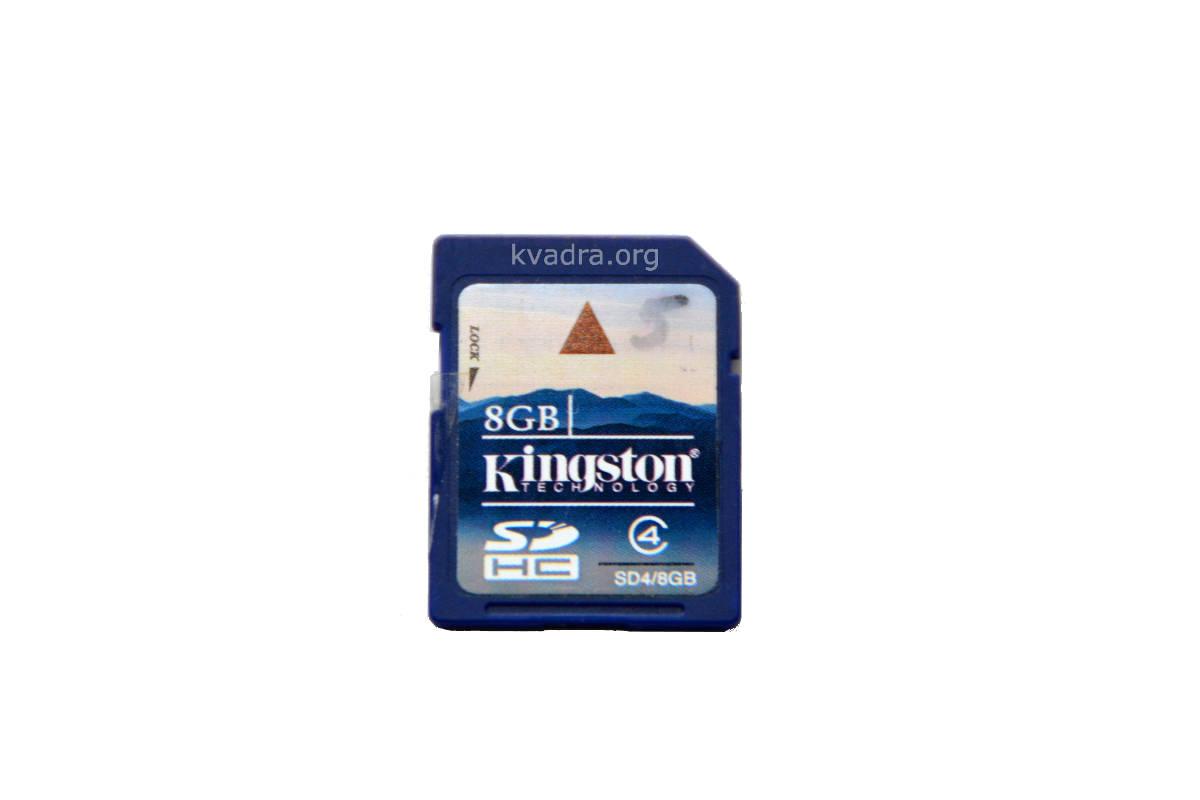 Восстановление файлов с SDHC карты памяти Kingston 8Gb